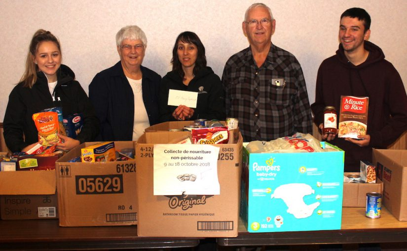720 aliments et 730 $ pour le Tyne Valley Caring Cupboard